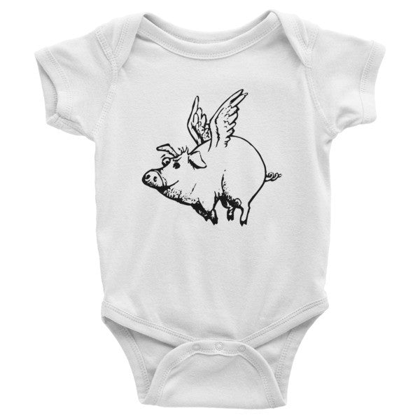 Flying Pig Infant short sleeve one-piece - Virtual Store USA
