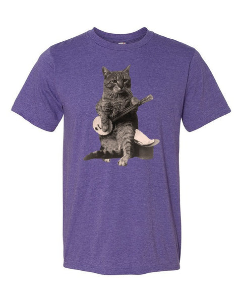 Banjo Guitar Player Cat Lover Short sleeve unisex t-shirt - Virtual Store USA
