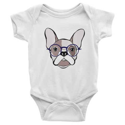 French Bulldog Infant short sleeve one-piece - Virtual Store USA