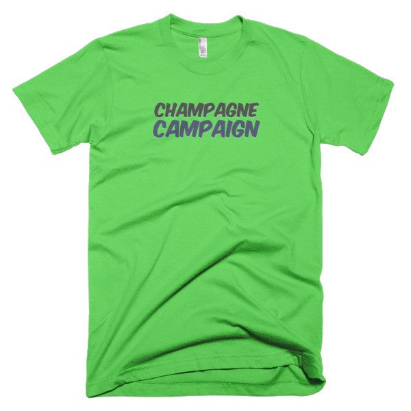 Champagne Campaign Short sleeve men's t-shirt - Virtual Store USA