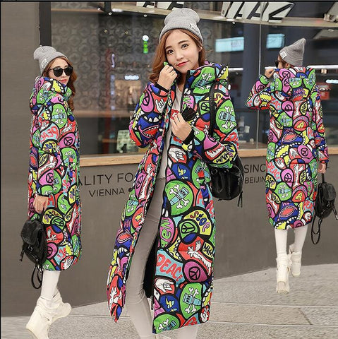 Autumn Winter Coat Thick Padded Down Korean Large Code Slim Jacket