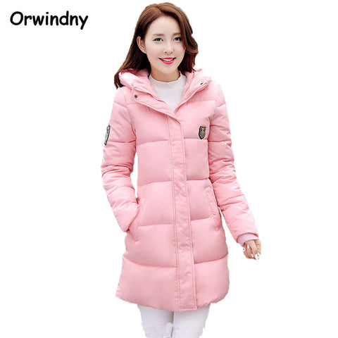 2016 New Fashion Long Winter Jacket Women Slim Female Coat Thicken Parka Down Cotton Clothing Red Clothing Hooded Student - Virtual Store USA