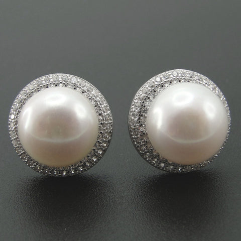 100%  Natural Freshwater Pearl Earrings 925 Sterling Silver Stud Earring  Pearl Jewelry Supplier For Women - Virtual Store USA