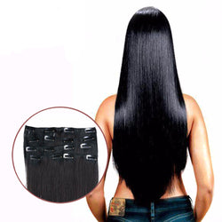 "Black 1B# C 16-28"" Remy Clip In Hair Extension - Virtual Store USA"