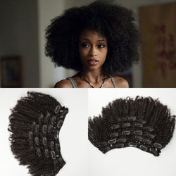 Virgin Mongolian Human Hair 4a/4b/4c Afro Kinky Curly Clip In Hair Extensions