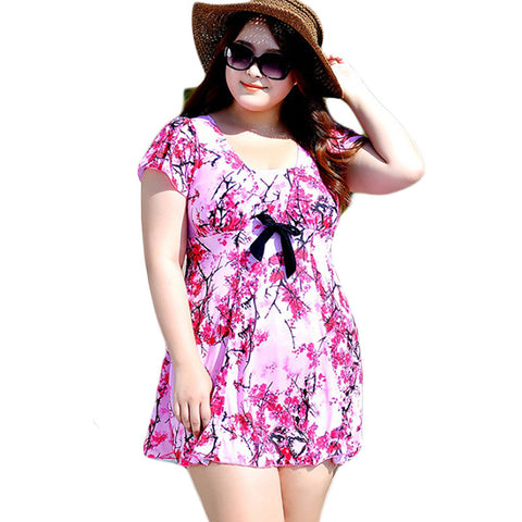 2015 Plus Size  Women Print Swimwear Tankini Swimsuits Dress Brassicre Padding Swimsuit No Steel Prop Bathing Suit DA311 - Virtual Store USA
