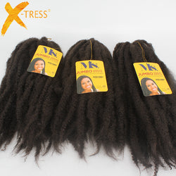 Afro Kinky Braiding Hair Kanekalon Black Crochet Hair Extensions Synthetic Marle