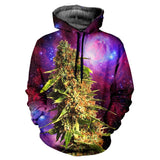 Fashion newest lovers winter galaxy space hooded sweatshirt 3d printing plantlife Weed Coral biology crop hoodie pullovers - Virtual Store USA
