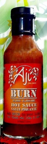 Aji burn hot sauce