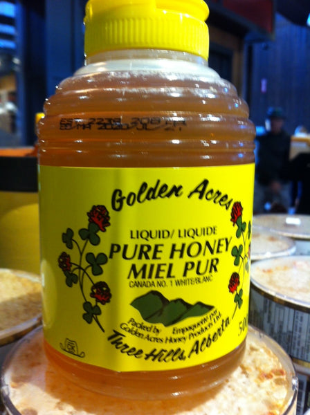 Golden Acres Pure Liquid Honey Squeeze Bottle, Three Hills, Alberta