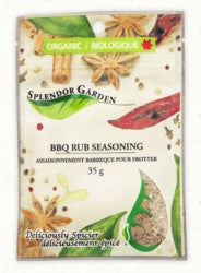 Splendor Garden Organic BBQ Rub Seasoning