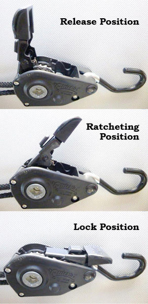 Quickie Tie Down Ratcheting Positions