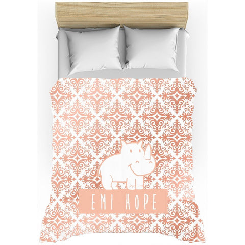 Rose Gold Emi Duvet Cover
