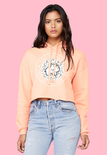 Load image into Gallery viewer, Boho Arrows Crop Hoodie