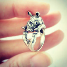 Load image into Gallery viewer, Adjustable Emi Wrap Ring Save the Rhinos Ring