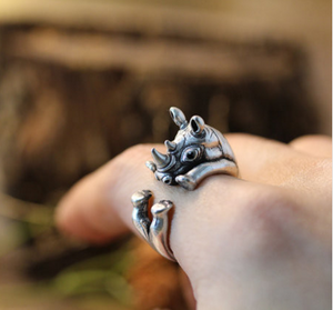Adjustable Emi Wrap Ring Save the Rhinos Ring