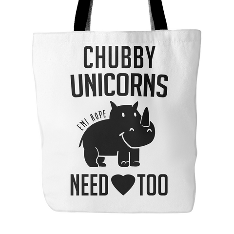 Chubby Unicorns need Love too, Emi Tote Bag