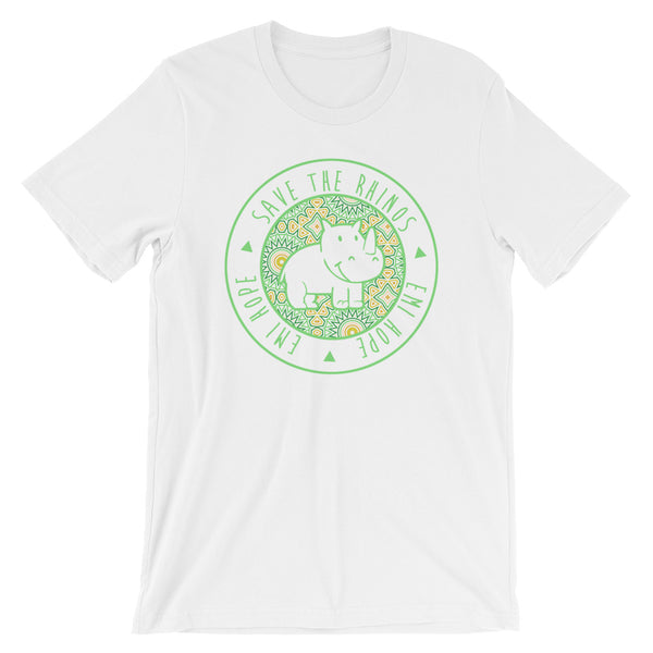 Lime Mosaic Round Short Sleeve T-Shirt