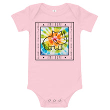 Load image into Gallery viewer, Tie Dye Black Square Infant Short Sleeve Onesie