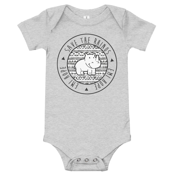 Black Aztec Round Infant Short Sleeve Onesie