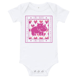 Geometric Hearts Square Infant Short Sleeve Onesie