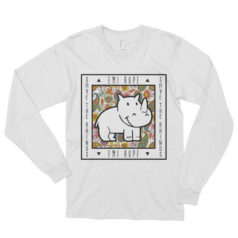 Paisley Save the Rhinos Emi Long sleeve t-shirt