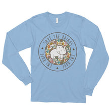 Load image into Gallery viewer, Paisley Round Emi Save the Rhinos Long sleeve t-shirt
