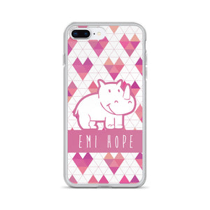 Geometric Hearts iPhone Case