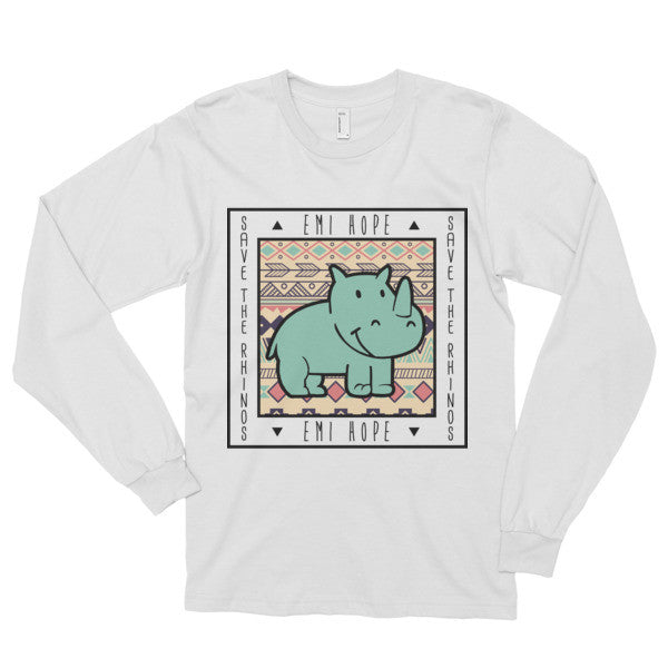 Mint Aztec Save the Rhinos Emi Long sleeve t-shirt