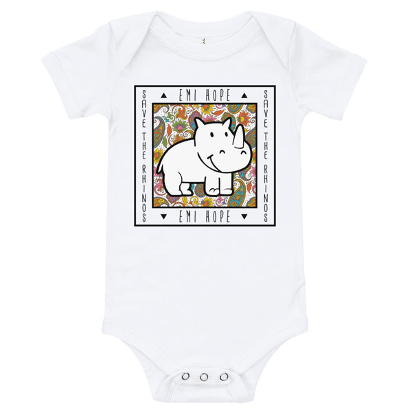 Paisley Square Infant Short Sleeve Onesie