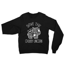 Load image into Gallery viewer, Save the Chubby Unicorn, Emi Raglan sweater