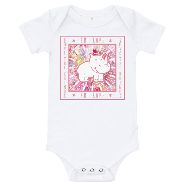 Pink Mandala Square Infant Short Sleeve Onesie