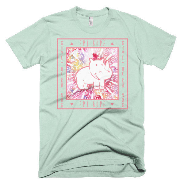 Pink Mandala Save the Rhinos Emi Short sleeve t-shirt