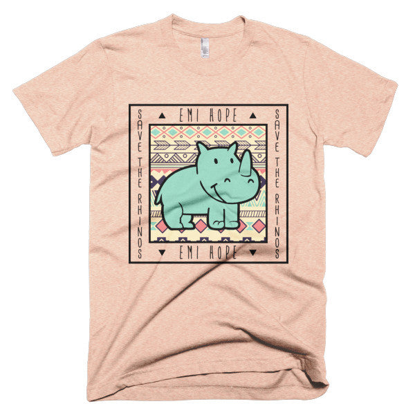Mint Aztec Emi Save the Rhinos Short sleeve t-shirt