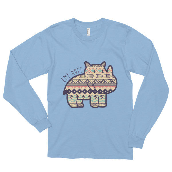 Dark Blue Aztec long sleeve t-shirt