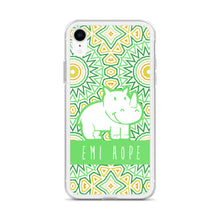 Load image into Gallery viewer, Lime Mosaic Sun iPhone Case