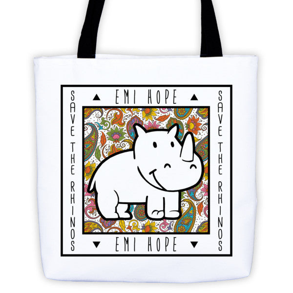 Paisley Save the Rhinos Emi Tote bag