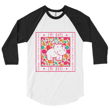 Load image into Gallery viewer, Drops Save The Rhinos Emi 3/4 sleeve raglan shirt