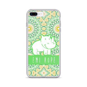 Lime Mosaic Sun iPhone Case