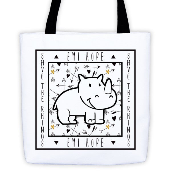 Boho Arrows Save the Rhinos Emi Tote bag