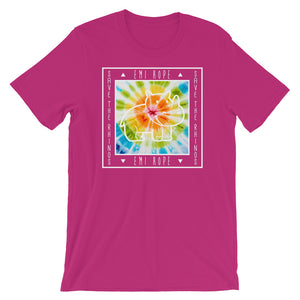 Tie Dye Save The Rhinos White Short Sleeve T-Shirt