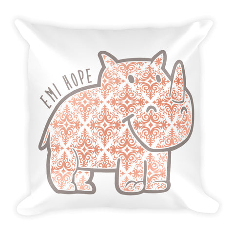 Rose Gold Emi Square Pillow
