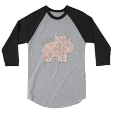 Load image into Gallery viewer, Rose Gold Emi 3/4 sleeve raglan shirt