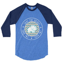 Load image into Gallery viewer, Chevron Emi 3/4 sleeve raglan shirt
