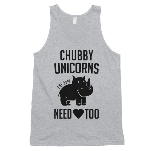 Chubby Unicorns Need Love too Classic tank top