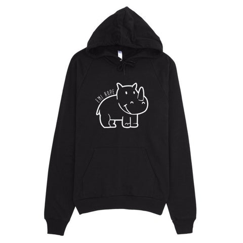 White Outline Emi Hoodie