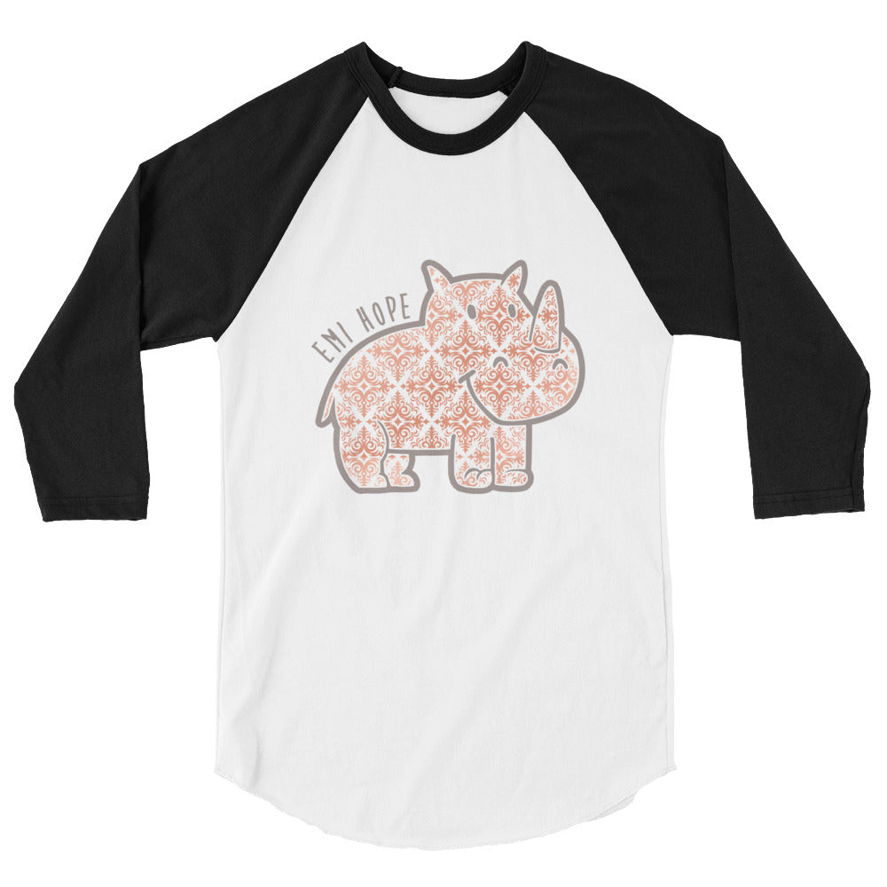 Rose Gold Emi 3/4 sleeve raglan shirt