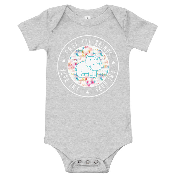Rainbow Triangles Round Infant Short Sleeve Onesie