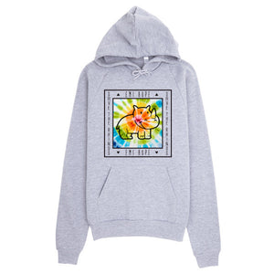Tie Dye Black Save the Rhinos Emi Hoodie