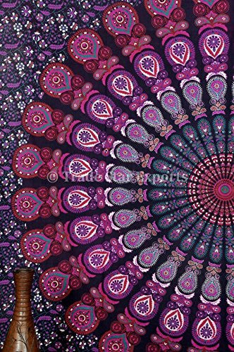 trendyystuff  Click to open expanded view      Mandala Tapestry, Indian Wall Hanging, Bohemian Decor, Dorm Bedding, Hippie Wall Tapestries, Beach Blanket